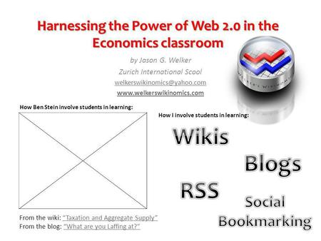 Harnessing the Power of Web 2.0 in the Economics classroom by Jason G. Welker Zurich International Scool