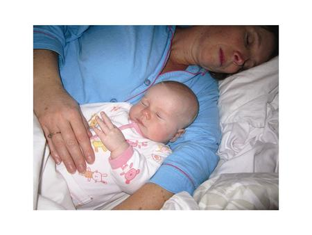 Recommendations; The SAFEST place to sleep your baby is in a cot NEXT to the parents bed for the first six to twelve months of life as this has been shown.