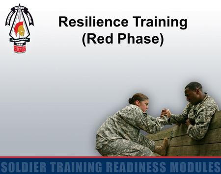 Resilience Training (Red Phase). 2 Terminal Learning Objective ACTION: Discuss resilience, teamwork, buddy aid, and our initial reactions to situations.