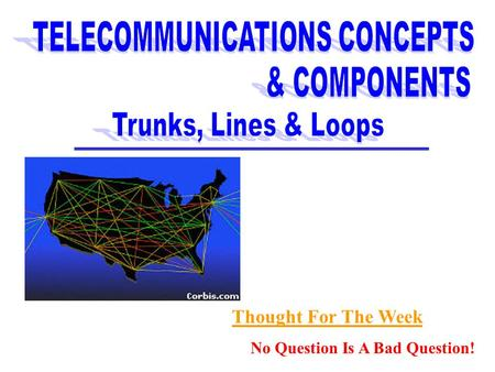 TELECOMMUNICATIONS CONCEPTS