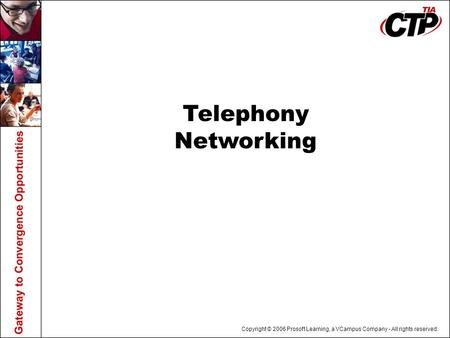 Copyright © 2006 Prosoft Learning, a VCampus Company - All rights reserved. Telephony Networking.