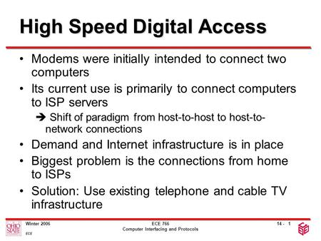 High Speed Digital Access