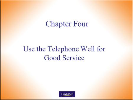 Use the Telephone Well for Good Service