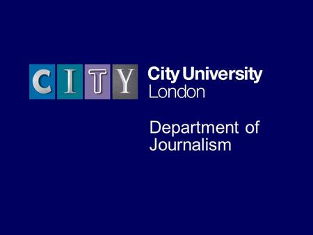 The University for business and the professions Department of Journalism.
