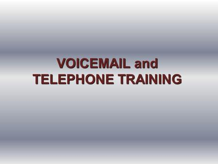 VOIC and TELEPHONE TRAINING. NUMBERS YOU NEED TO KNOW Claudette Jamerson for assistance 895-4146 Website:  Telecommunications.