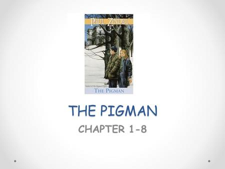THE PIGMAN CHAPTER 1-8. THE PIGMAN (CHAPTER 1-4) 1.Why are Lorraine and John writing this story? They are writing the memorial epic to tell about their.