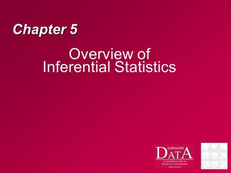 Chapter 5 Overview of Inferential Statistics. Why do we need inferential statistics? Typically, we are interested in the population, not the sample –When.