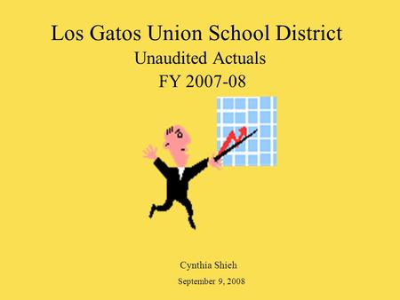 Los Gatos Union School District Unaudited Actuals FY 2007-08 Cynthia Shieh September 9, 2008.