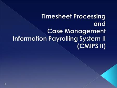 Timesheet Processing and