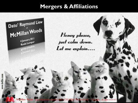 McMillan Woods – An independent member firm of McMillan Woods Global. Mergers & Affiliations.