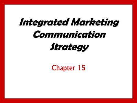 Integrated marketing communications mix