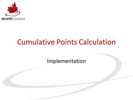 Cumulative Points Calculation Implementation. 2002 Crises.