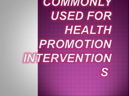 Whenever there is a discussion about the theoretical bases for health education and health promotion, we often find the terms theory and model used. Some.