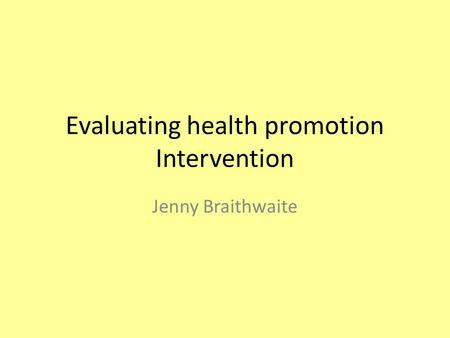 Health promotion specialist