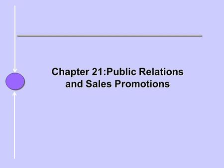 Chapter Chapter 21:Public Relations and Sales Promotions.