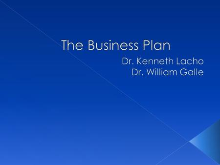 The Business Plan Mission Statement and the Business Environment.