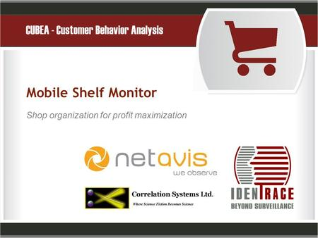 Mobile Shelf Monitor Shop organization for profit maximization.