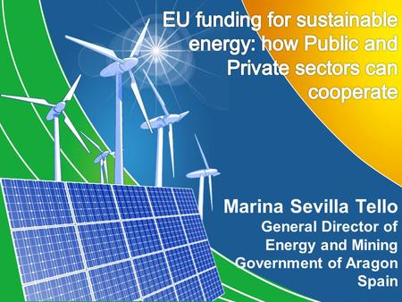 Marina Sevilla Tello General Director of Energy and Mining Government of Aragon Spain.