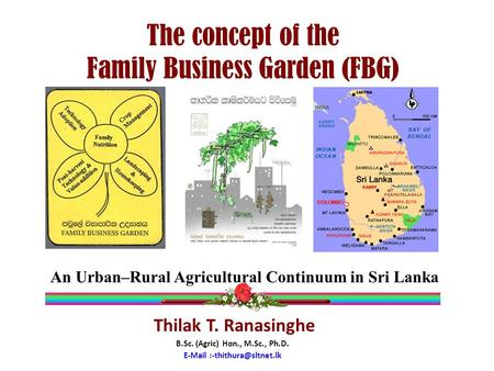 The concept of the Family Business Garden (FBG)