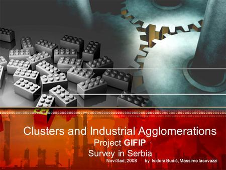Clusters and Industrial Agglomerations Project GIFIP Survey in Serbia Novi Sad, 2008 by Isidora Budić, Massimo Iacovazzi.