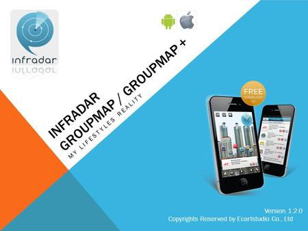INFRADAR GROUPMAP / GROUPMAP + MY LIFESTYLES REALITY Version 1.2.0 Copyrights Reserved by Ecartstudio Co., Ltd.