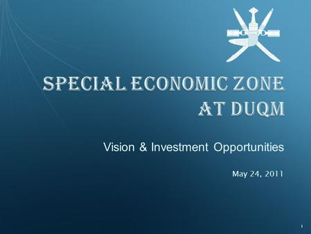Vision & Investment Opportunities May 24, 2011 1.