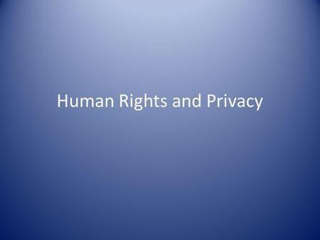 Human Rights and Privacy. Basic Concepts Is it good enough to know the definition of a concept or term? Difference between political philosophy and political.