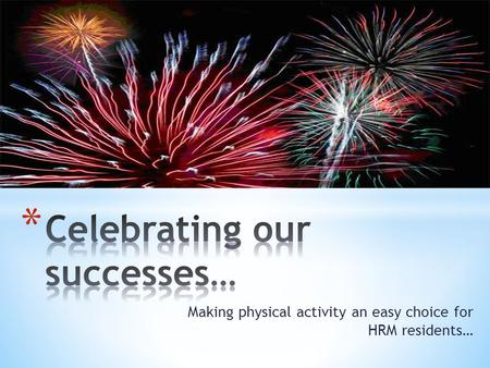 Making physical activity an easy choice for HRM residents…