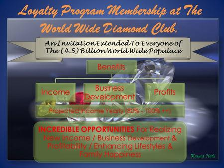 An Invitation Extended To Everyone of The (4.5) Billion World Wide Populace Benefits Income Business Development Profits Projected Income Yearly (80% -