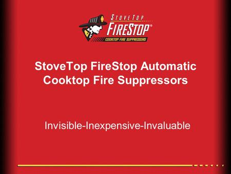 StoveTop FireStop Automatic Cooktop Fire Suppressors Invisible-Inexpensive-Invaluable.