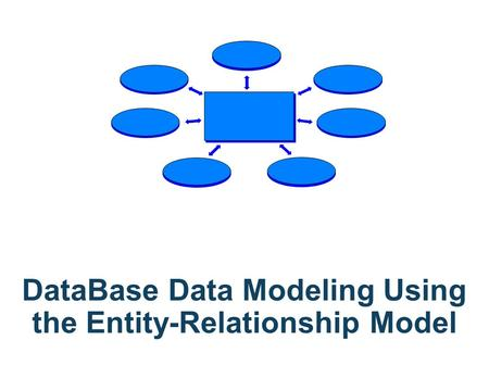 DataBase Data Modeling Using the Entity-Relationship Model.