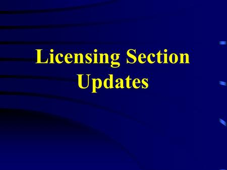 Licensing Section Updates Governor Foster has recently appointed two new members to the Advisory Board. Ronnie Whiddon of Custom Security of Baton Rouge.