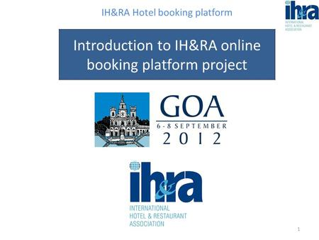 IH&RA Hotel booking platform Introduction to IH&RA online booking platform project 1.