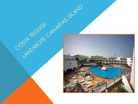 COSTA TEGUISE LANZAROTE CANARIAS ISLAND. Tourist complex of 260 apartments a few meters away from the famous beach of Las Cucharas to Costa Teguise Available.