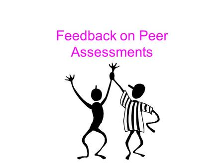 Feedback on Peer Assessments. Aim CO6- course objective 6 – to carry out a practical exercise, taking account of relevant health and safety factors CO5.
