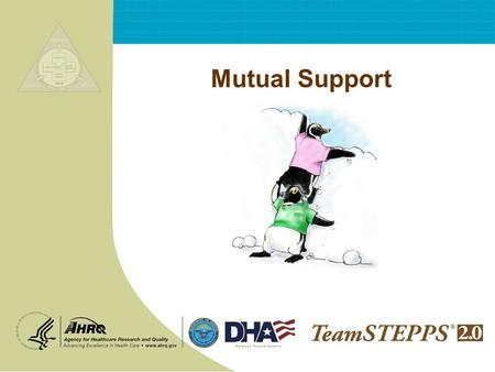 Mutual Support. T EAM STEPPS 05.2 Mod 6 2.0 Page 2 Mutual Support 2 Objectives Describe how mutual support affects team processes and outcomes Discuss.