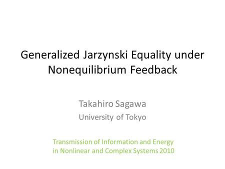 Generalized Jarzynski Equality under Nonequilibrium Feedback