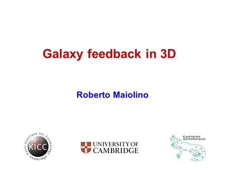 Galaxy feedback in 3D Roberto Maiolino. Feedback is the key: - reducing SF efficiency (gas heating+turbulence) - removing baryons Discrepancy between.