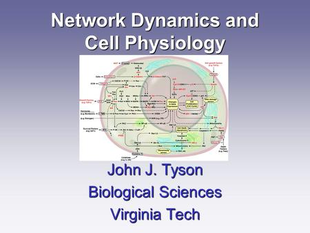Network Dynamics and Cell Physiology John J. Tyson Biological Sciences Virginia Tech.