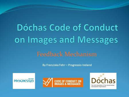 Feedback Mechanism By Franziska Fehr – Progressio Ireland.