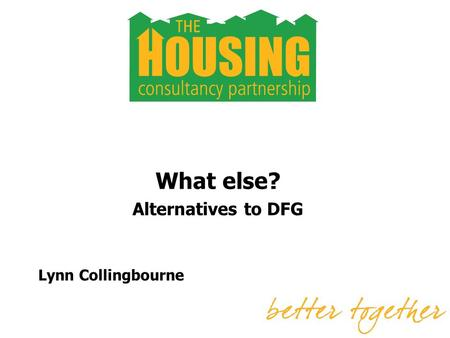 What else? Alternatives to DFG Lynn Collingbourne.