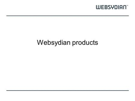 Websydian products.