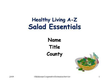 Healthy Living A-Z Salad Essentials