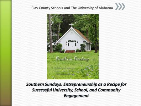 Clay County Schools and The University of Alabama.