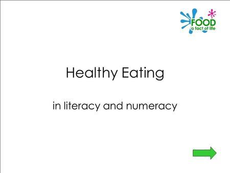 Healthy Eating in literacy and numeracy. Healthy Eating in literacy and numeracy This PowerPoint is designed to provide ideas to enable you to carry the.
