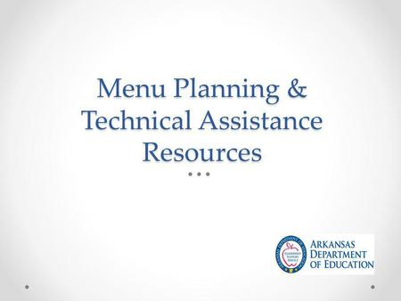 Menu Planning & Technical Assistance Resources. USDA Q & A on New Meal Pattern Requirements  Policy-Memos/2012/SP10-2012osr2.pdfwww.fns.usda.gov/cnd/governance/