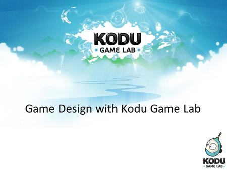 Game Design with Kodu Game Lab. Introductions Richard Olsen Assistant Director, ideasLAB Ashley Spagnol Eltham Primary School.