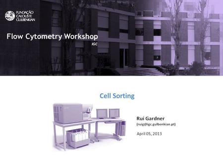 What is Flow Cytometry? Flow Cytometry uic April 05, 2013 Cell Sorting Flow Cytometry Workshop IGC.