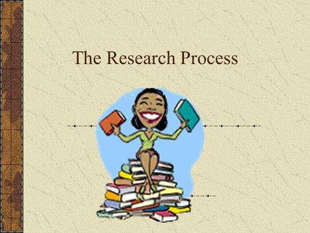 The Research Process. Research???? Yuck! If the word research scares you, think about this……