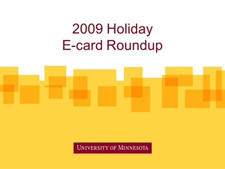 2009 Holiday E-card Roundup